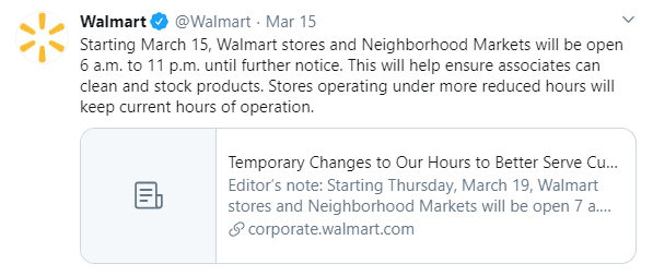 Walmart crisis communication via website, press releases and social media