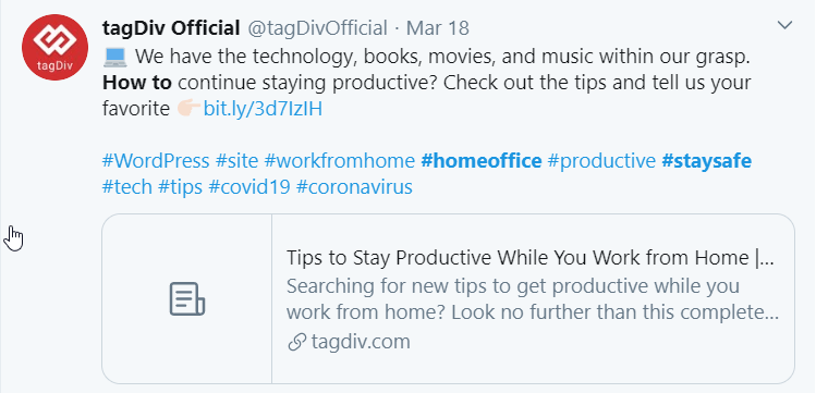tagDivOfficial provides information on how to stay productive while you work from home
