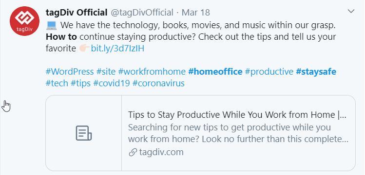 tagDivOfficial fournit des informations sur la façon de rester productif pendant que vous travaillez à domicile