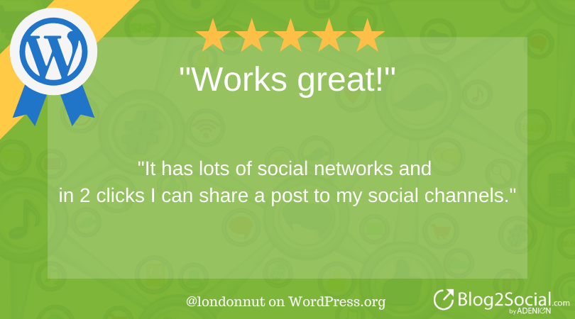 I has lots of social networks and in 2 clicks I can share a post to my social channels.