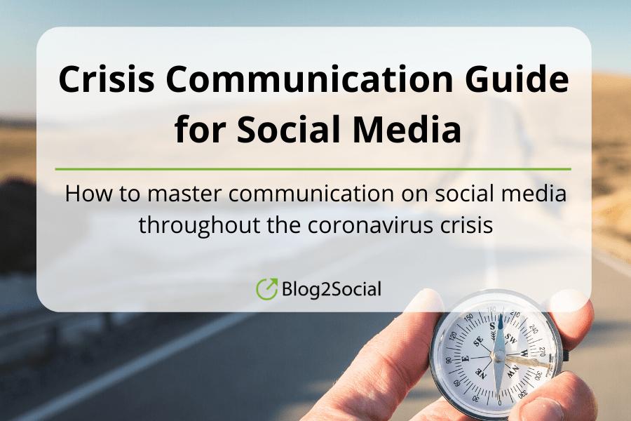 Blog2Social - Crisis Communication Guide for Social Media