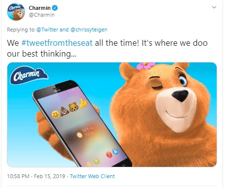 With #tweetfromtheseat US brand charmin got a lot of engagement on twitter. Here's how you can use hashtags to create engagement for your own brand.
