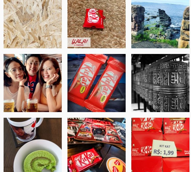 Different variations of the #haveabreakhaveakitkat are used to share pictures of the chocolate bar for example on instagram