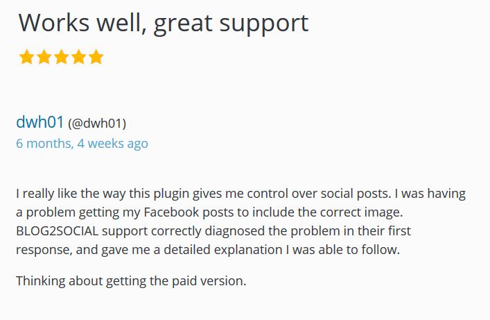 after resolving support issues ask customers to leave you a review