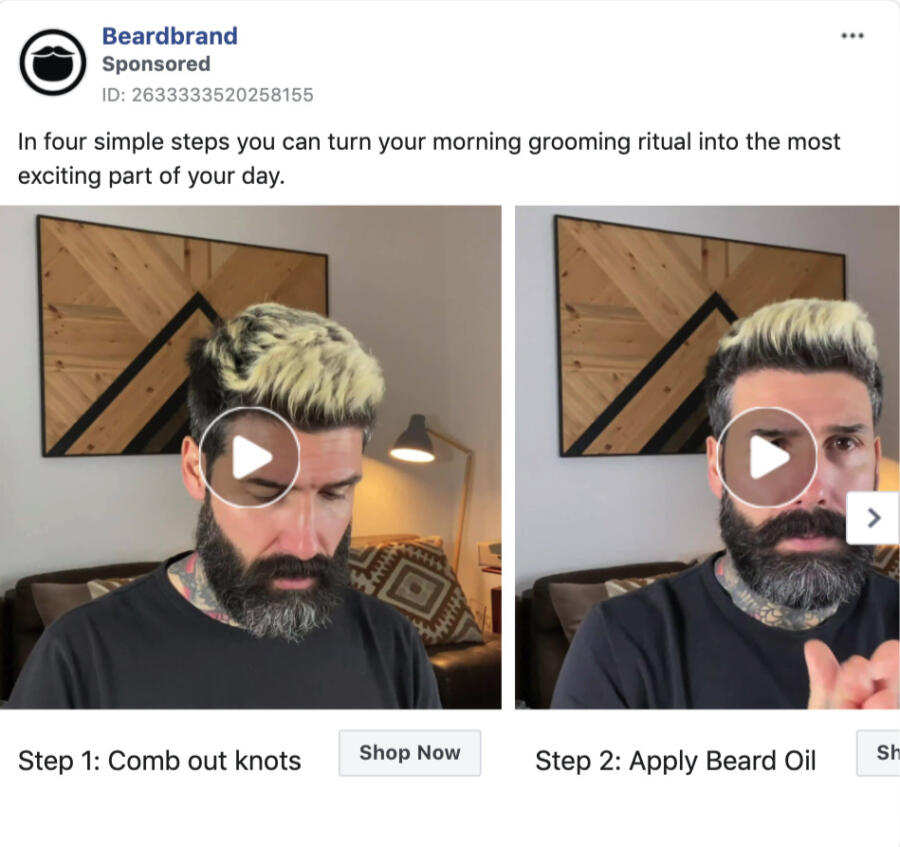 This sponsored post by beard brand shows how to use their product correctly without being salesy