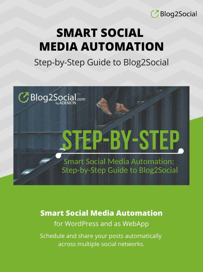 Blog2Social Guide Step-byStep