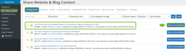 Blog2Social Guide step-by-step