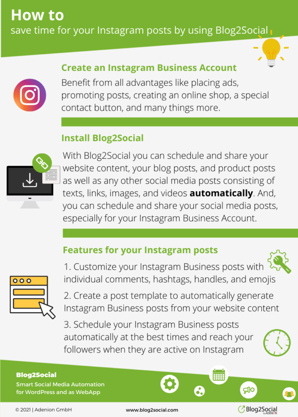 How to save time for your Instagram posts by using Blog2Social