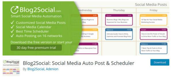 Blog2Social Social Media Autopost