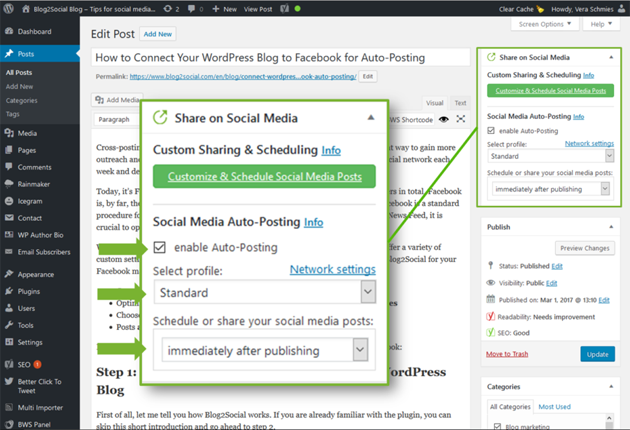 Automatically share blog posts on Twitter