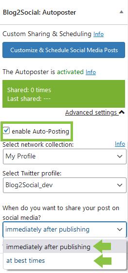 Blog2Social Auto Posting
