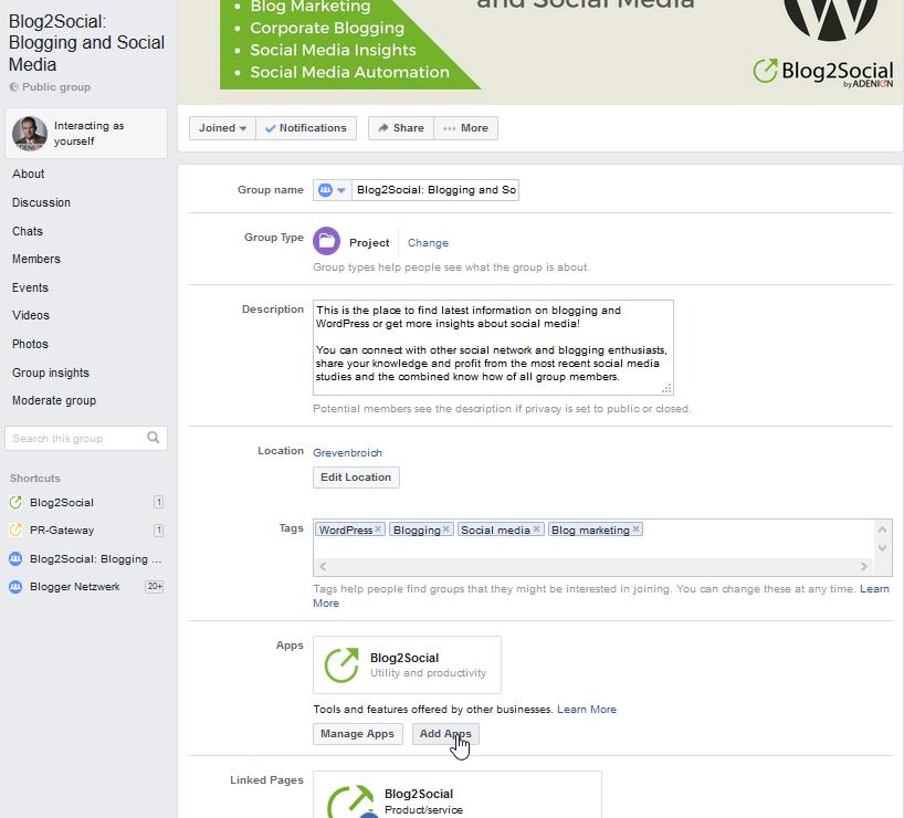 facebook group settings 2 Como agregar autopublicador en tu grupo de facebook