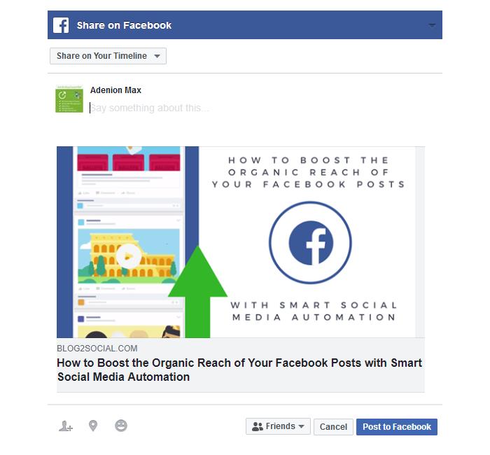 Facebook Instant Sharing